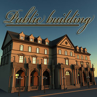 3ds max public building house