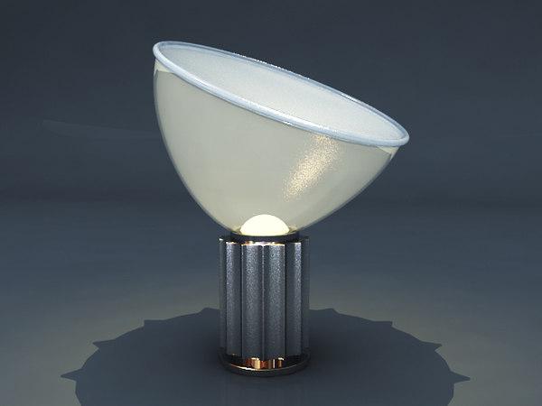 flos taccia light lamp 3d max