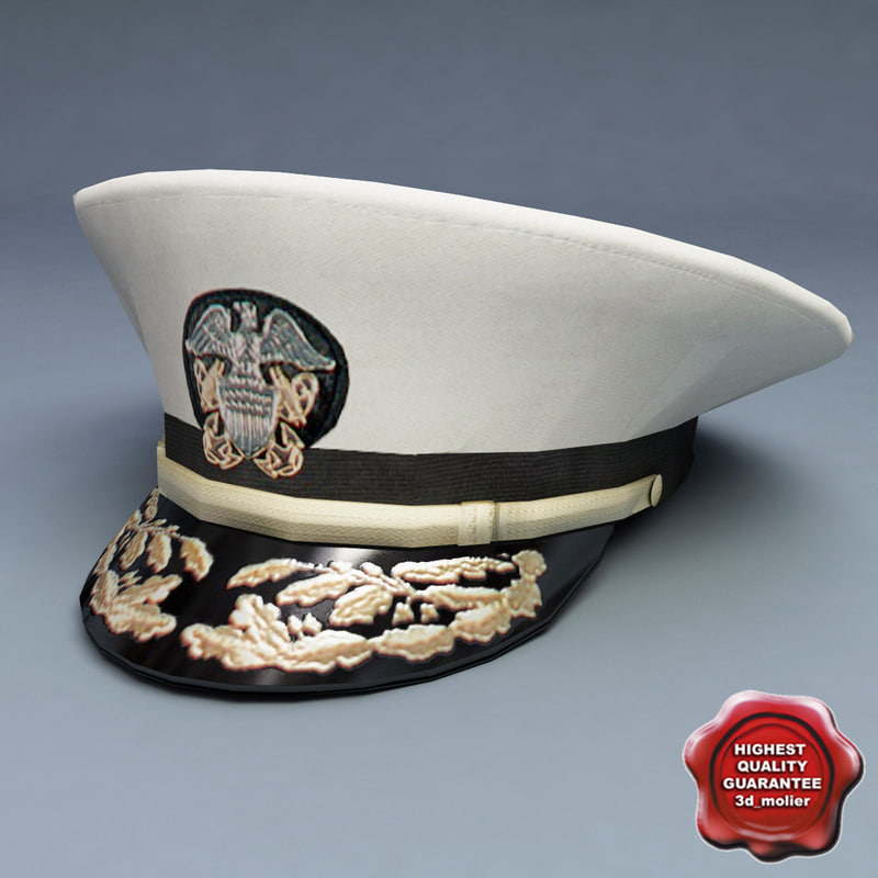3ds max admiral hat