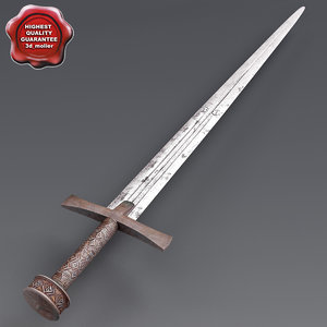 african sword v4 3d model