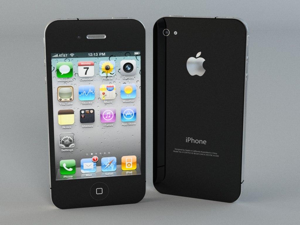 3d max apple iphone 4