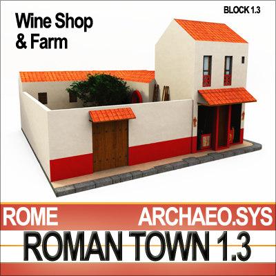 ancient roman wine shop 3d model