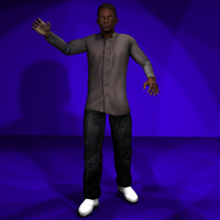 Black Male #1 Rigged Character Package