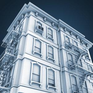 vintage architectural building 3d max