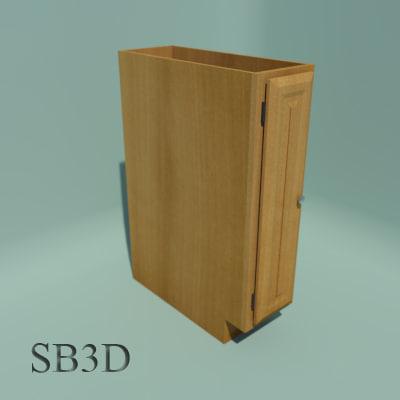 3d model 9 base cabinet functional