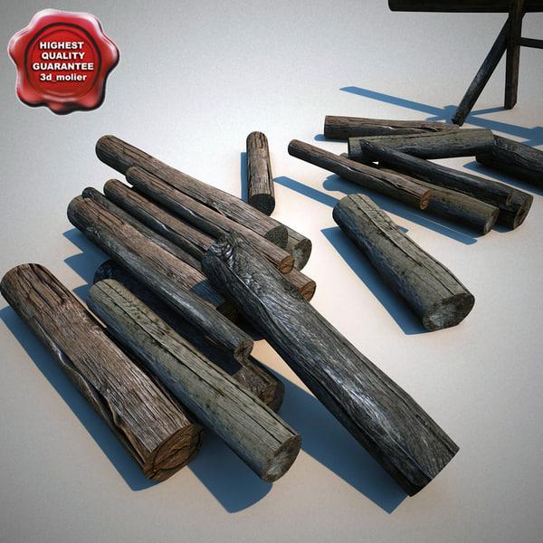 chopped firewood 3d model