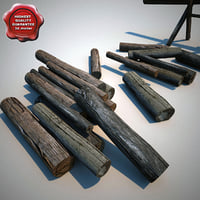 chopped firewood 3d model
