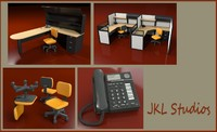 office furniture desk 3ds