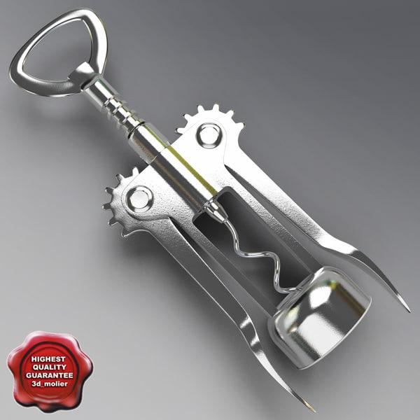 3d corkscrew modelled open