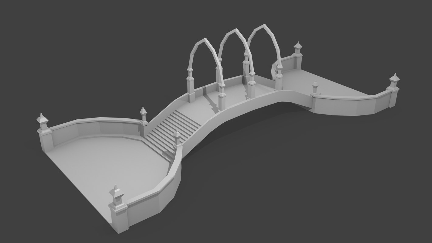 bridge elven 3d model