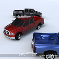 dodge ram pickup truck 3d model