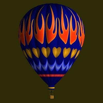 hot air balloon bl obj