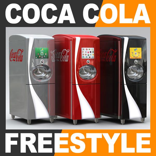 coca cola freestyle fountain 3d 3ds