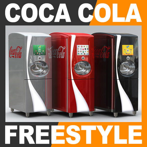 coca cola freestyle fountain 3d 3ds