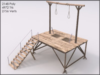 3d gallows games real model