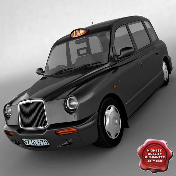 3d london taxi tx1 model