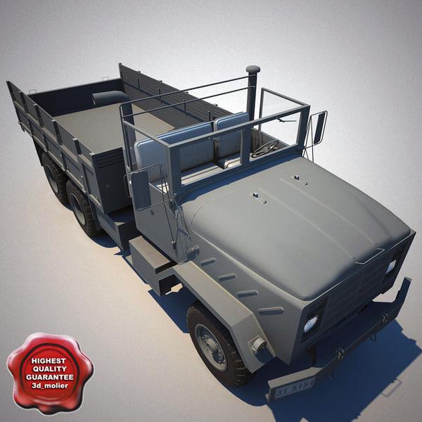 3d c4d m923 a1 cargo truck