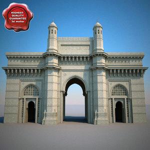 mumbai gateway india 3d model