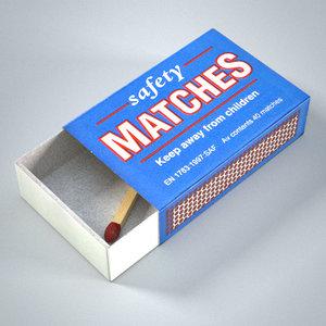 3d matchbox matches