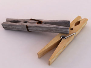 wooden pegs 3d model
