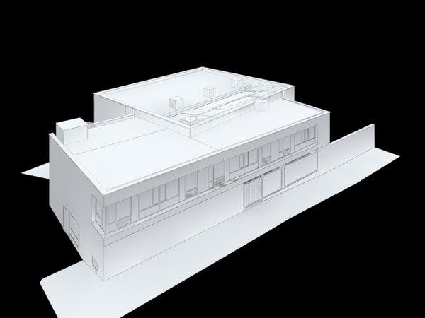 3d uk school building model