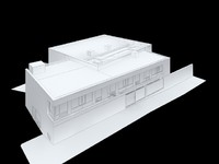 3d uk school building model