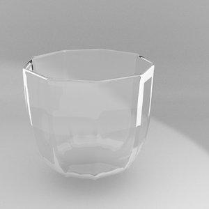 set glassware wine glass 3d 3ds