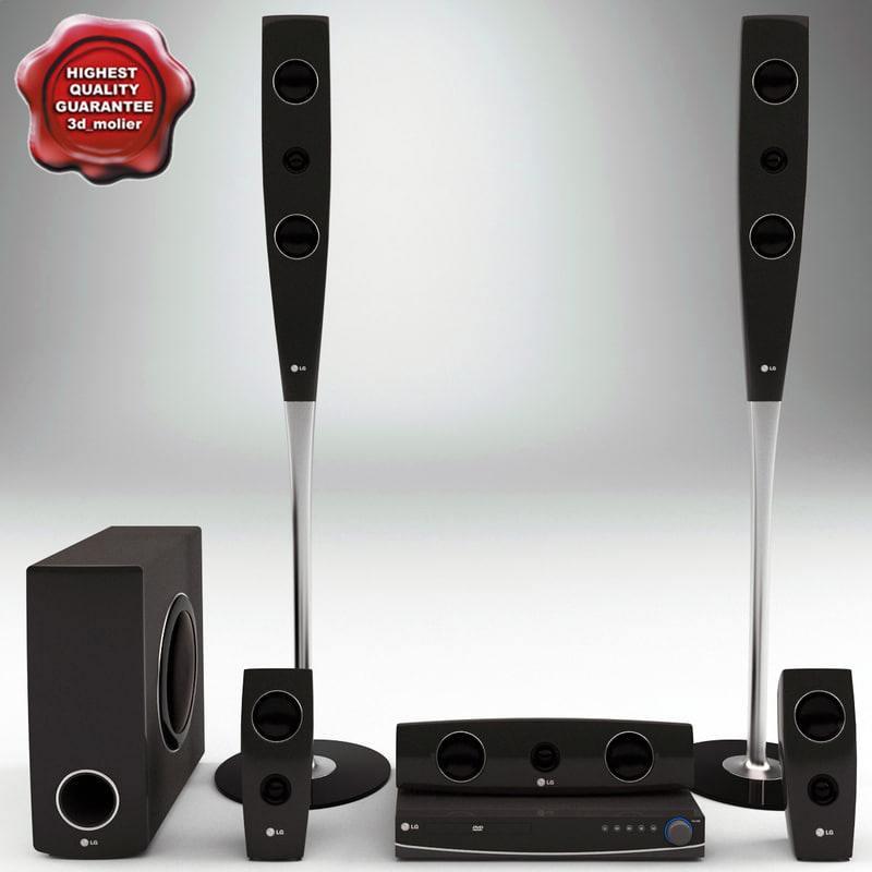 3d model of speaker lg xh t762pz