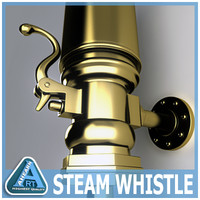 3d steam whistle