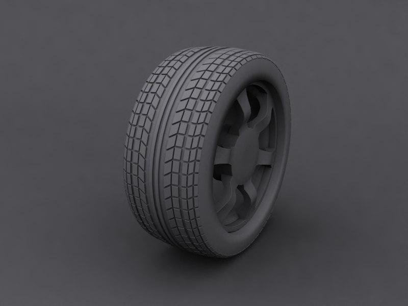 3dsmax heavy car wheel