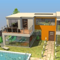 3ds max modern house details