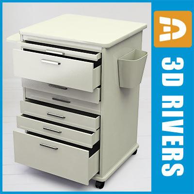 dental mobile cabinet 3d model