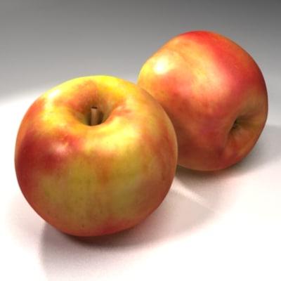 3d model apple scan real