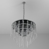 3d model contemporary chandelier lamps light