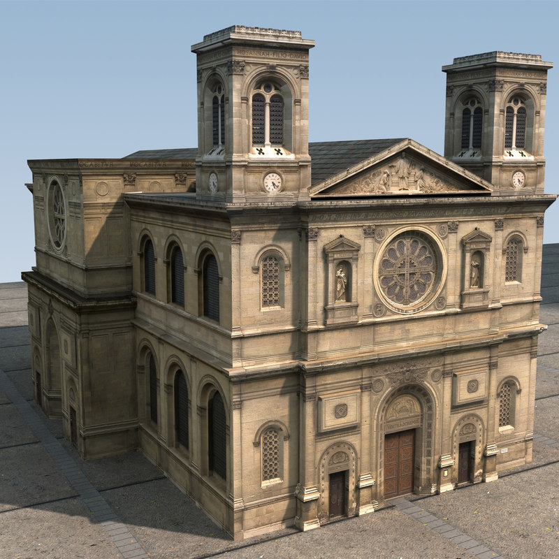 3dsmax church polys resolution