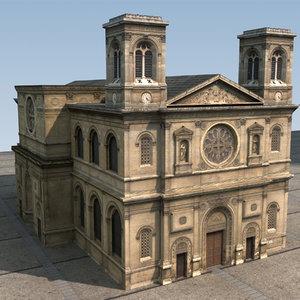 3dsmax church polys resolution