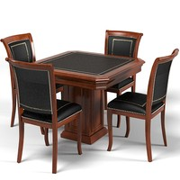 classic office  card game table chair