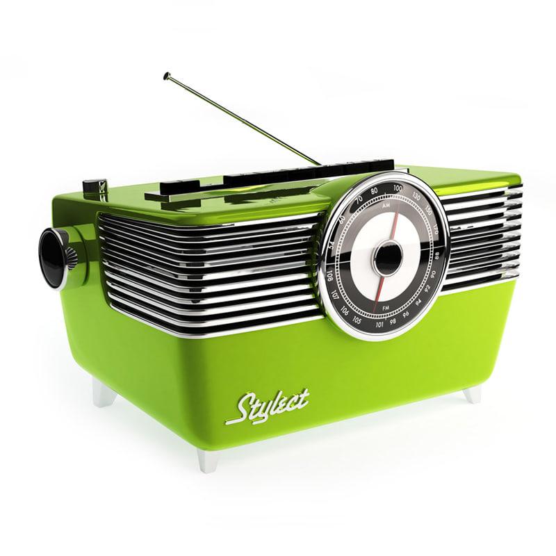 obj fifties vintage radio