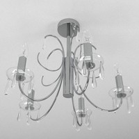 lamp contemporary chandelier light 3ds