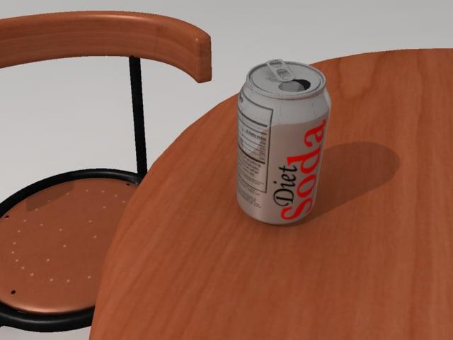 diet soda 3d model