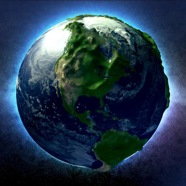 sculpted earth 3d model