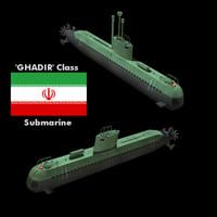 Submarine Ghadir Class (Iran)