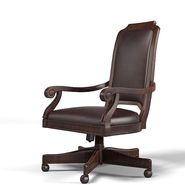 henredon classic boss president office chair armchair(1)