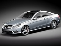 3d mercedes e coupe model