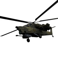 mi-28 havoc helicopter mi-28a 3d model