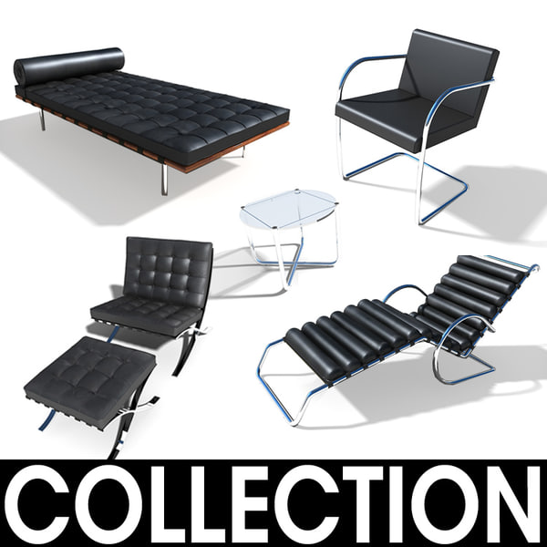 mies furniture 3d model