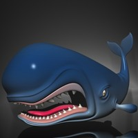 Monstro Cartoon Whale Rigged