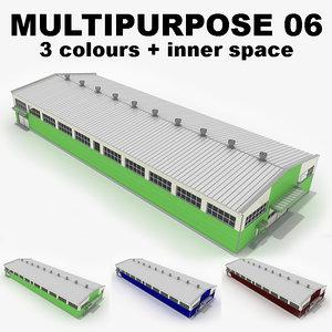 3ds multipurpose industrial building 06