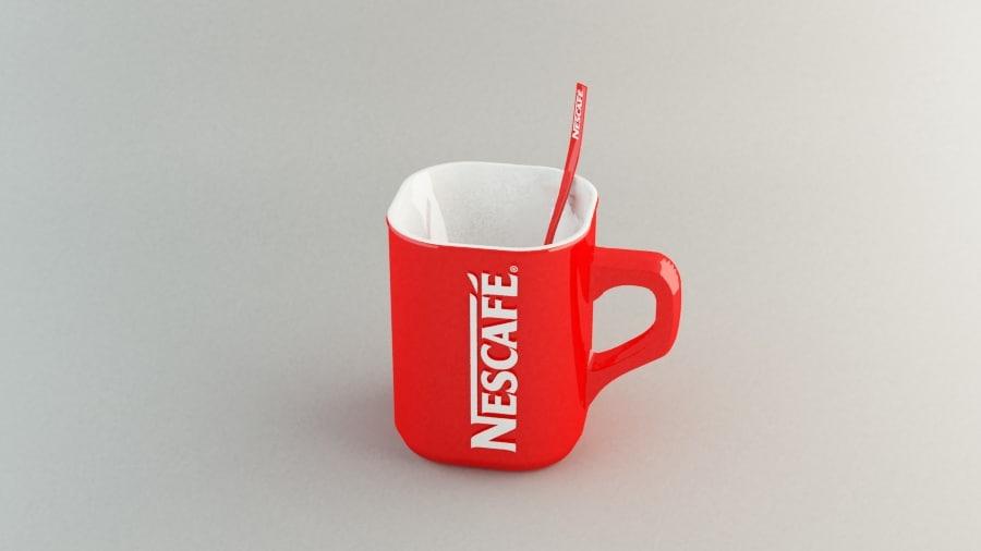 3ds max nescafe mug