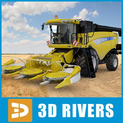 combine-harvester combine harvester 3d 3ds